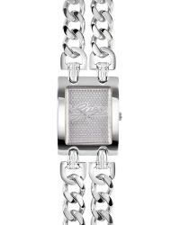 Guess | Metallic Signature Rectangle Watch  | Lyst