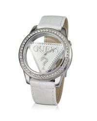Guess | Multicolor Transparent Dial Crystal Logo Watch | Lyst