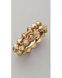 House of Harlow 1960 - Metallic Spike Stack Ring Set - Lyst