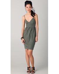 James Perse | Green Empire Sundress | Lyst