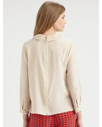 Marc By Marc Jacobs | Pink Miro Silk Button-back Blouse | Lyst