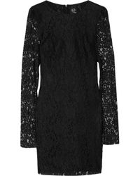 McQ | Black A Line Lace Dress | Lyst