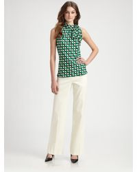 MILLY | White Flared-leg Pants | Lyst