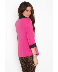 Nasty Gal - Miami Vice Blazer - Pink - Lyst
