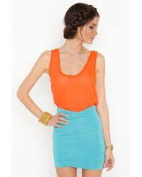 Nasty Gal | Orange Tulip Bandage Skirt  | Lyst