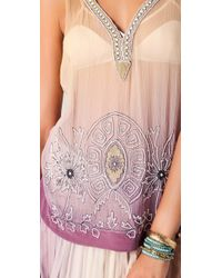 Of Two Minds - Purple Talitha Beaded Top - Lyst
