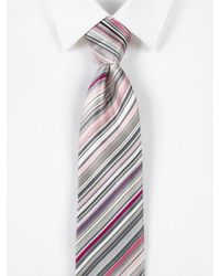 Paul Smith - Pink Striped Silk Tie for Men - Lyst