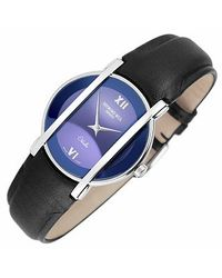 Raymond Weil - Blue Othello Ladies Stainless Steel and Leather Watch - Lyst