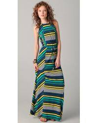 Shoshanna | Multicolor Cassie Striped Maxi Dress | Lyst