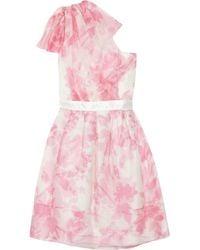 Thread Social | Pink One-shoulder Silk Organza Dress | Lyst