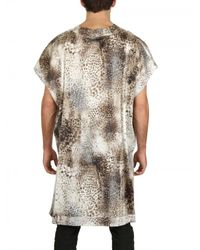 Tom Rebl - Multicolor Cotton Satin Leopard Print Tunic Shirt for Men - Lyst