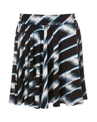 TOPSHOP | Blue Windy Stripe Print Flippy Skirt | Lyst