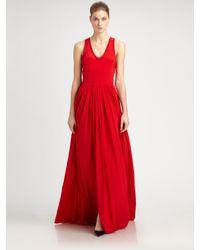 Yigal Azrouël - Red Silk Gown - Lyst