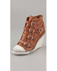 Ash | Natural Thelma Wedge Sneakers | Lyst