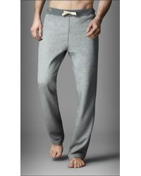 Burberry | Gray Cotton Blend Lounge Trousers for Men | Lyst