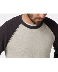 James Perse | Black Baseball Raglan Pullover for Men | Lyst