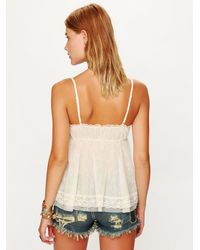 Free People   Natural All Over Lace Babydoll Top   Lyst