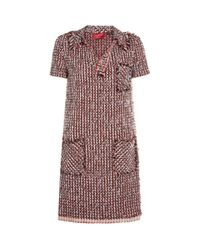 Lanvin | Red Tweed Polo Dress | Lyst