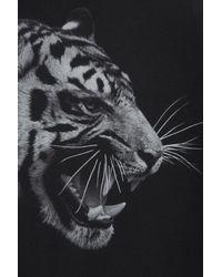 TOPSHOP - Black Side Tiger Tank - Lyst