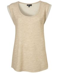 TOPSHOP | Natural Double Layer Tank | Lyst