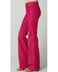 Tory Burch | Red Leigh Flare Jeans | Lyst