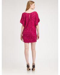 Aidan Mattox | Purple Cold Shoulder Sequin Dress | Lyst