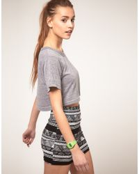 American Apparel | Gray Loose Cropped T Shirt | Lyst
