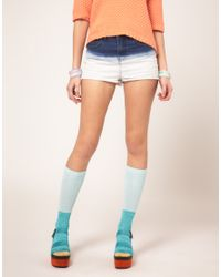 ASOS Collection | Multicolor Asos Pastel Colour Block Metallic Knee Socks | Lyst