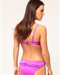 ASOS Collection - Purple Asos Mix & Match Bow Front Graduated Pad Bikini Top - Lyst