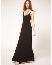DIESEL | Black Zip Back Maxi Dress | Lyst