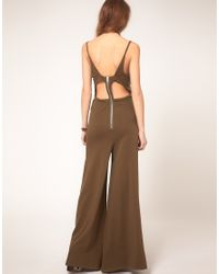 DIESEL - Brown Wide Leg Jumpsuit - Lyst