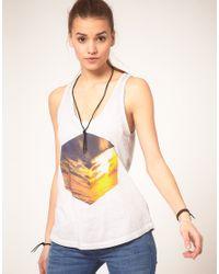 DIESEL | White Cube Printed Vest | Lyst