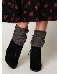 Free People - Black Lantana Wedge Ankle Boot - Lyst
