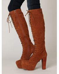 Free People | Brown Stevie Platform Boot | Lyst