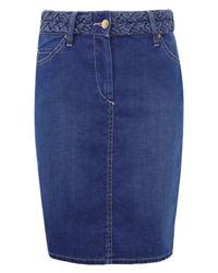 Isabel Marant | Blue Lea Plaited Waist Denim Skirt | Lyst
