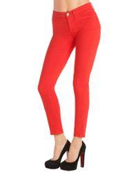 J Brand - Red 811 Mid-rise Skinny Leg - Lyst