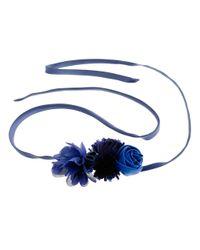 J.Crew | Blue Bouquet Sash Belt | Lyst