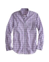 J.Crew | Purple Secret Wash Lightweight Shirt in Connoly Check for Men | Lyst
