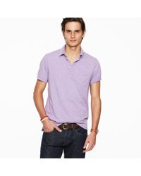 J.Crew | Purple Broken-in Pocket Polo for Men | Lyst