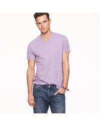 J.Crew | Purple Broken-in V-neck T-shirt for Men | Lyst