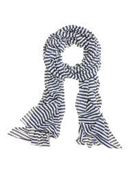 J.Crew | Blue Microspun Stripe Scarf | Lyst