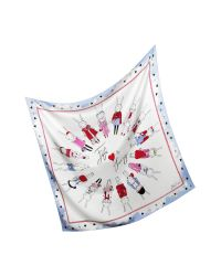 Juicy Couture | White Fifi Lapin Silk Square Scarf | Lyst