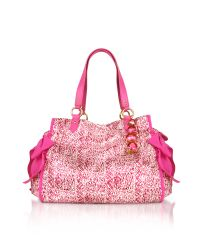 Juicy Couture | Pink Satin Ms. Daydreamer Tote | Lyst