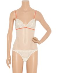 Nina Ricci | Natural Lace Bodysuit | Lyst