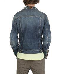 Balmain - Blue Collar Badges Washed Denim Sport Jacket for Men - Lyst