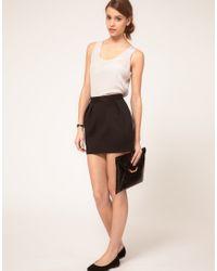 ASOS | Black Mini Skirt With Pleats | Lyst
