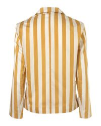 TOPSHOP - Yellow Co-Ord Stripe Fluid Blazer - Lyst
