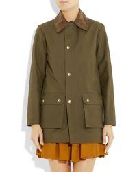 A.P.C.   Green Corduroy-Collar Cotton Jacket   Lyst