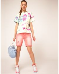 ASOS Collection - Multicolor Asos Premium Silk T-shirt with Tie Dye Print - Lyst