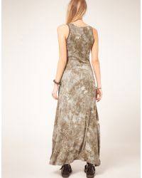 ASOS Collection   Gray Asos Petite Exclusive Dip Hem Maxi Dress   Lyst